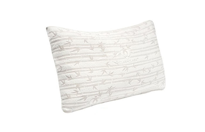 Premium Shredded Memory Foam Pillow by Clara Clark