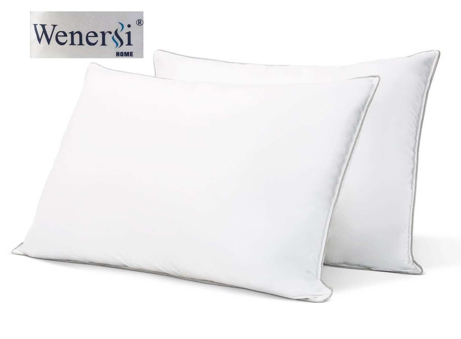 Premium Down and Feather Blended Pillow by Wenersi