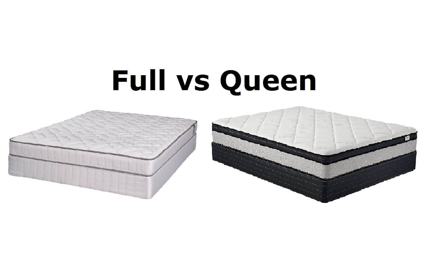 Queen vs full bed size