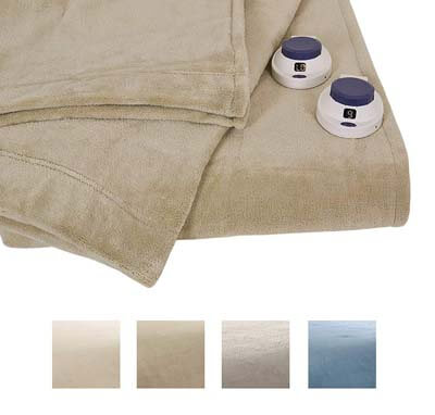 Serta Luxe Plush Fleece Heated Blanket