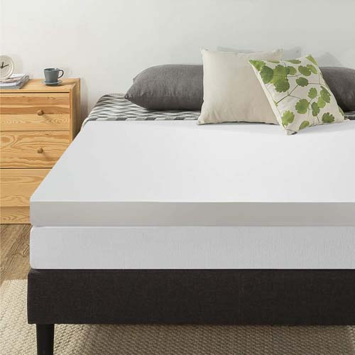 4-Inch Memory Foam Mattress Topper by Best Price Mattress