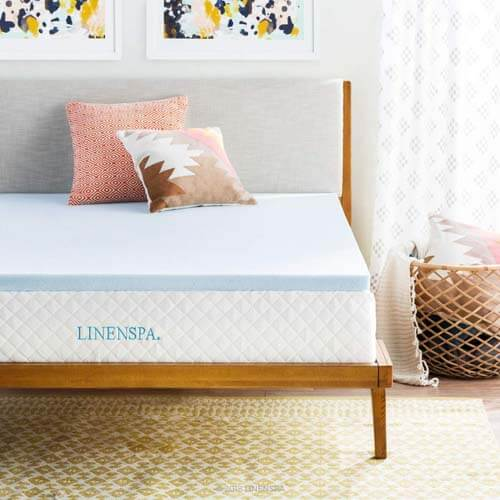 Linenspa 2-Inch Gel-Infused Memory Foam Mattress Topper