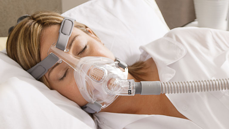 side sleeper with a cpap mask